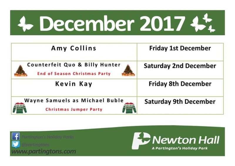 Newton Hall Entertainment December 2017