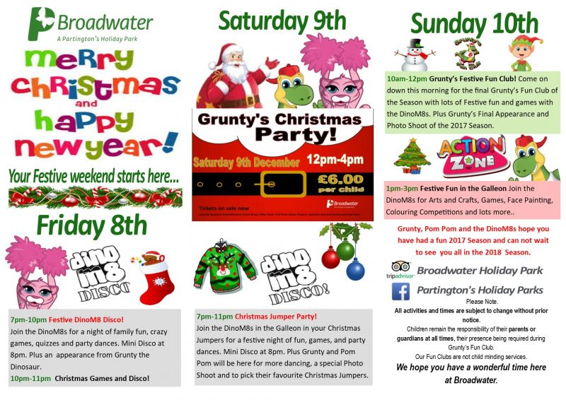 Broadwater  - Friday 8th - Sunday 10th December