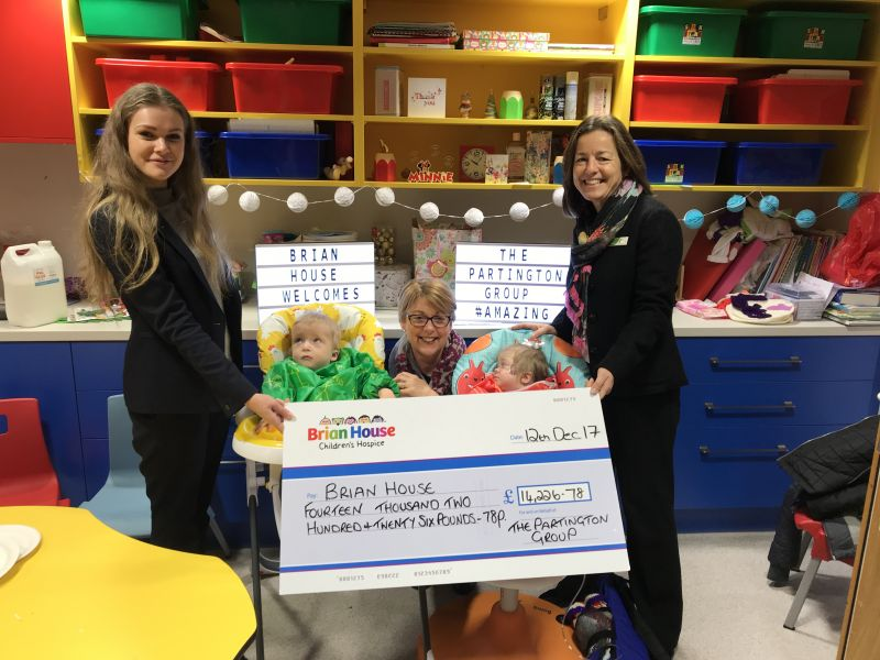 Partington's have raised an astounding £14,226.78 for Brian House children's hospice!