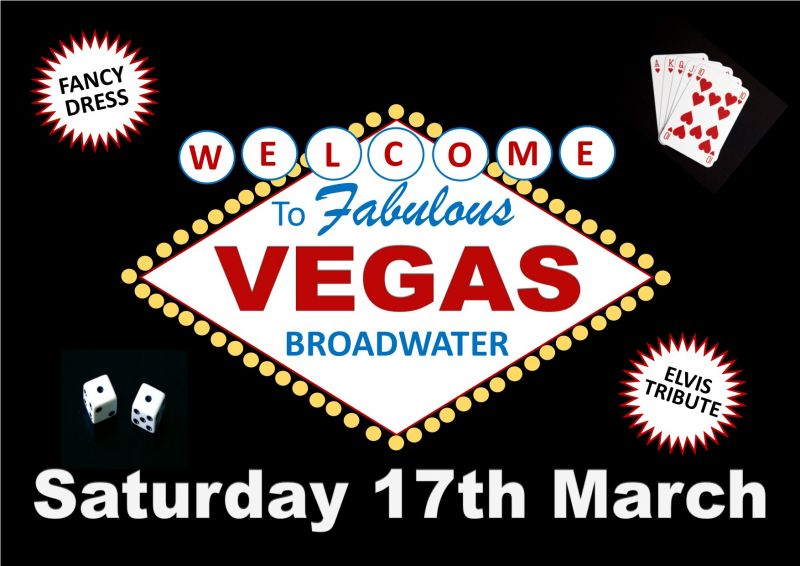 Welcome to Vegas Theme Night at Broadwater - Saturday 17th March 2018