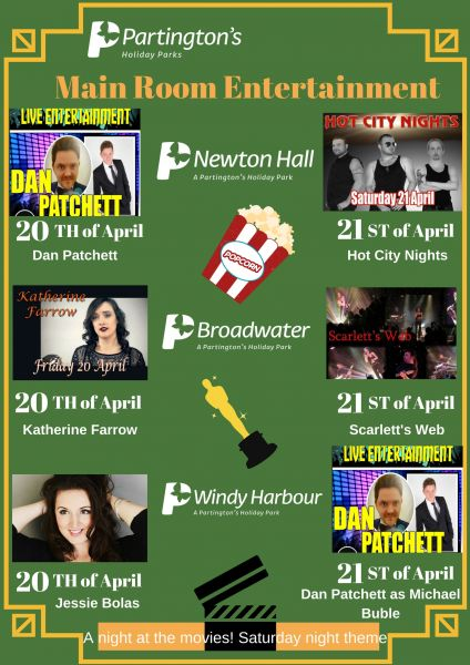 20th - 21st April 2018 Main Room Entertainment across our Fylde Coast Holiday Parks!