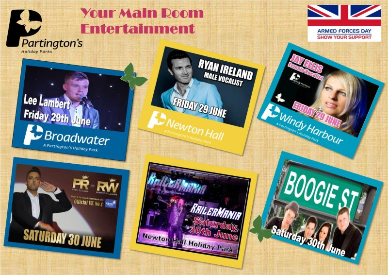 Here is your Main Room entertainment for this weekend 29th June - 1st July