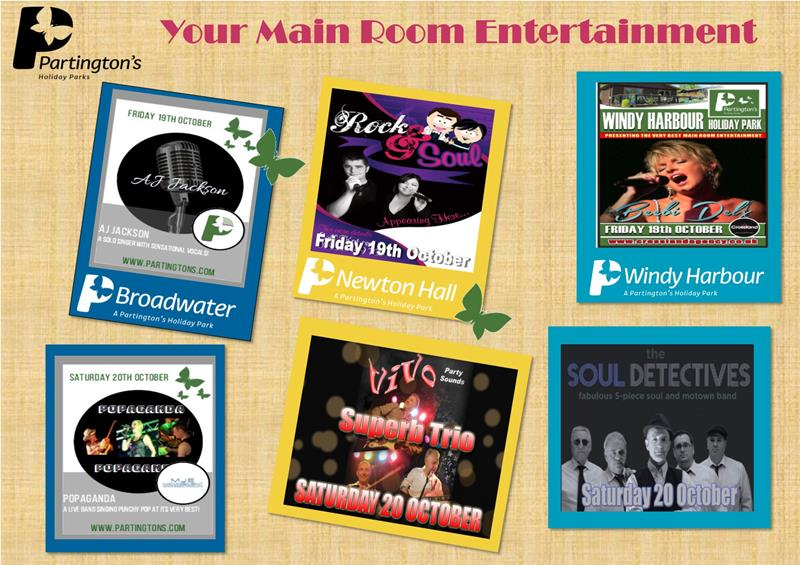 Here is your Main Room entertainment for this weekend 19th October - 21st October