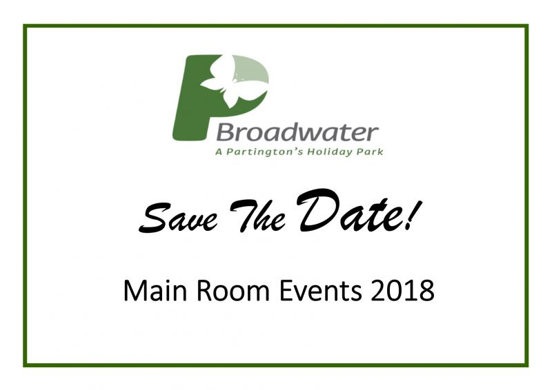 Broadwater's Main Room Events 2018