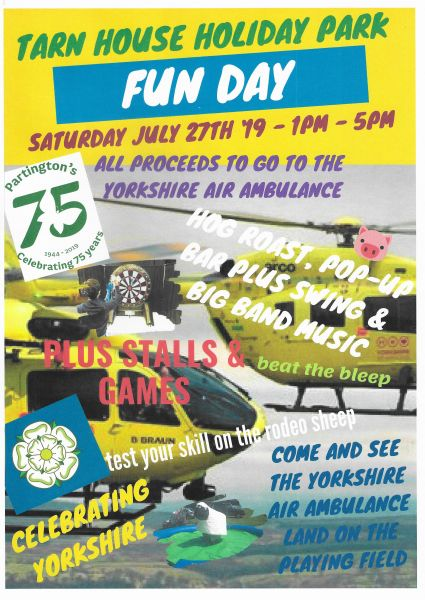 Join us for our Annual Fundraiser Event for the Yorkshire Air Ambulance
