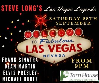 Super talented male vocalist and tribute artiste Steve Long joins us at Tarn House on Saturday 28th September!
