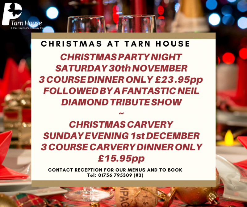 Christmas Party Night Book Now - Tarn House Holiday Park