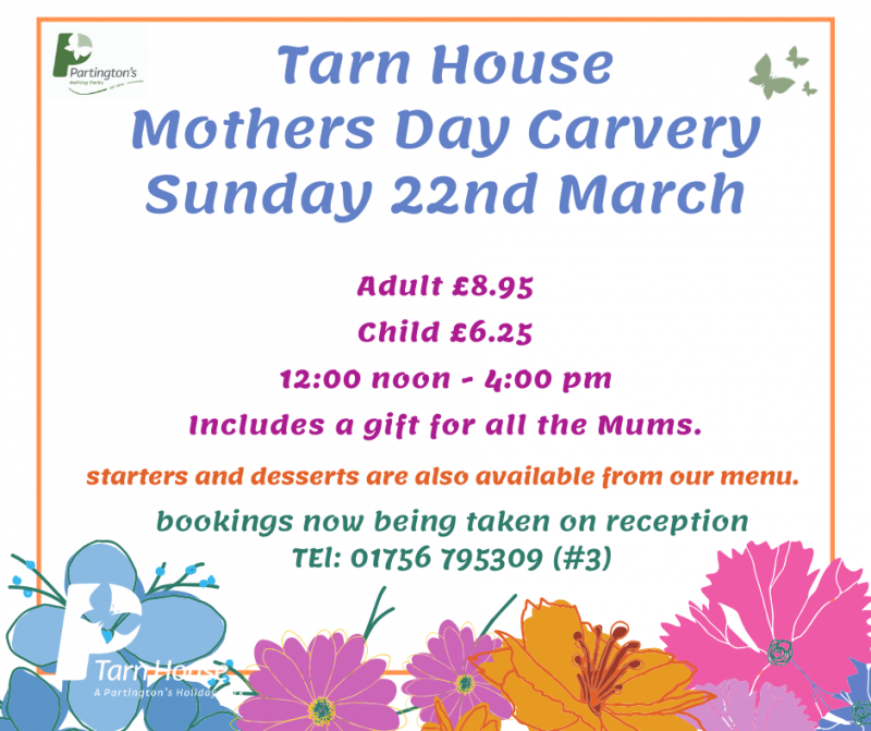 Treat Mum to a Mother's Day lunch at Tarn House Holiday Park
