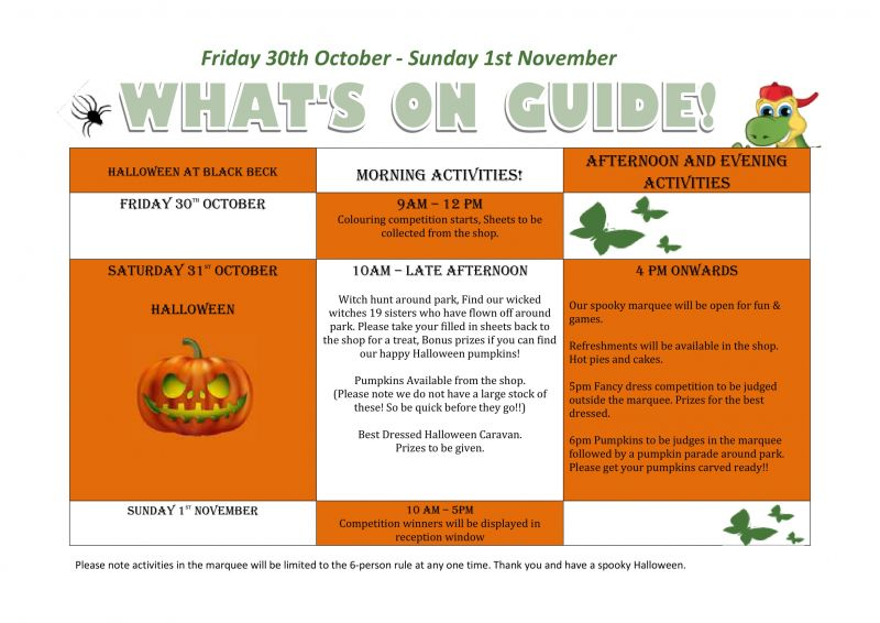 Here is your Halloween entertainment at Black Beck Holiday Park